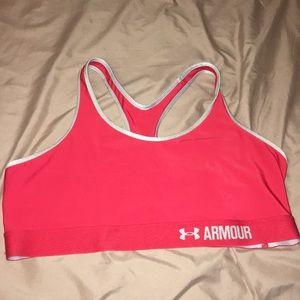 Red UNDERARMOUR (not padded) Bra